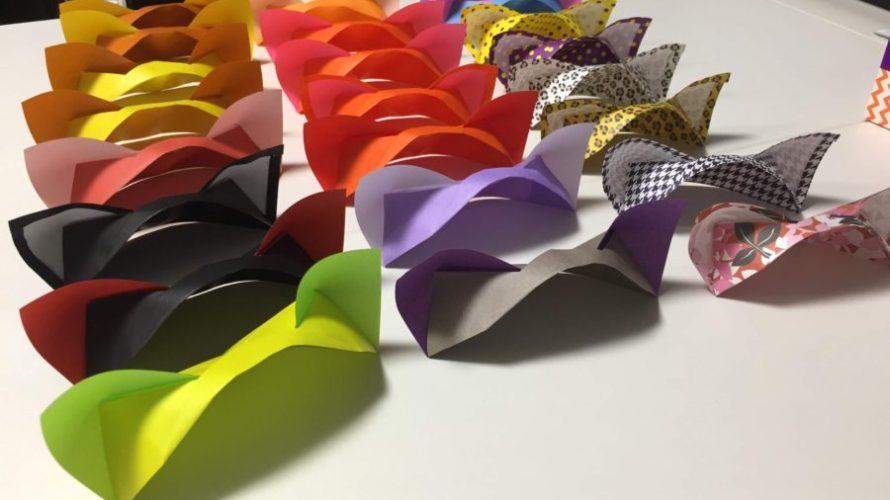 ネコミミ カチューシャ 折り紙