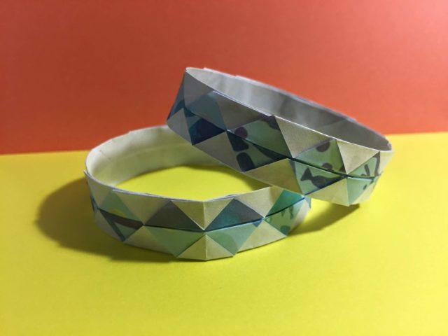 折り紙 腕輪